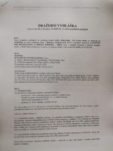 Prodej rekreačního objektu formou dražby u Brněnské přehrady